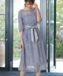 スカート部分:ハイウエスト切替&フレアデザイン