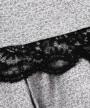 トップス裾部分:スカラップレース